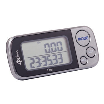 Ozeri 4x3sport Digital 3D Pedometer with Tri-Axis Technology & 30 Day Memory