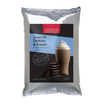 Cappuccine 3-pound Cookies and Cream Frappe (Pack of 5)