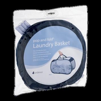 Whitmor Pop and Fold Laundry Basket Blue