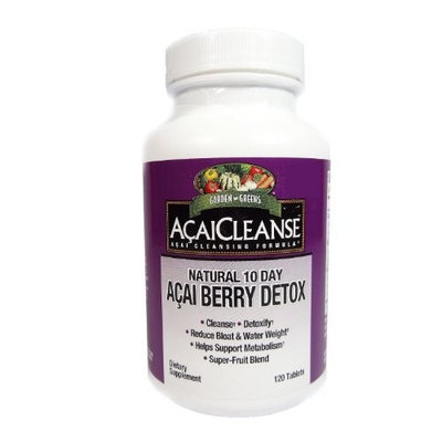 Garden Greens AcaiCleanse Natural 10 Day Acai Berry Detox, 120 Tablets