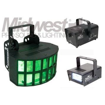 Meijer American DJ Aggressor & Chauvet Hurricane 700 Fog Machine w/ FREE Mini Strobe LED