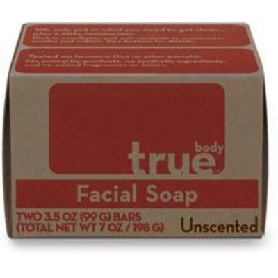 True Body Products True Body Bar Soap,Facial,Unscented 2/3.5 oz