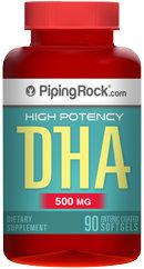 Piping Rock DHA 500mg Enteric Coated 90 Softgels