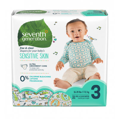 Seventh Generation Free & Clear Size 3 Baby Diapers