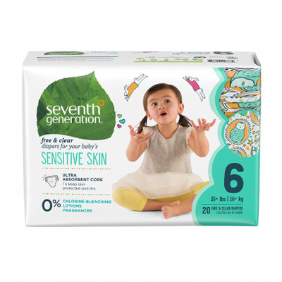 Seventh Generation Free and Clear Size 6 Baby Diapers