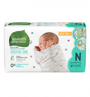 Seventh Generation Free & Clear Newborn Baby Diapers