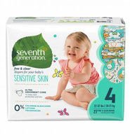 Seventh Generation Free & Clear Size 4 Baby Diapers