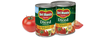 Del Monte® Diced Tomatoes with Basil Garlic & Oregano