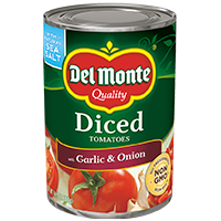 Del Monte® Diced Tomatoes With Garlic & Onion