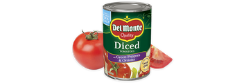 Del Monte® Diced Tomatoes with Green Pepper & Onion