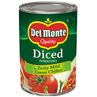 Del Monte® Quality Zesty Mild Green Chilies Diced Tomatoes