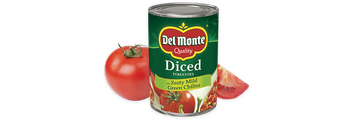 Del Monte® Diced Tomatoes with Zesty Mild Green Chilies