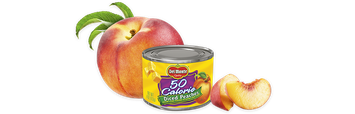 Del Monte®  ™ 50 Calorie Diced Yellow Cling Peaches in Extra Light Syrup