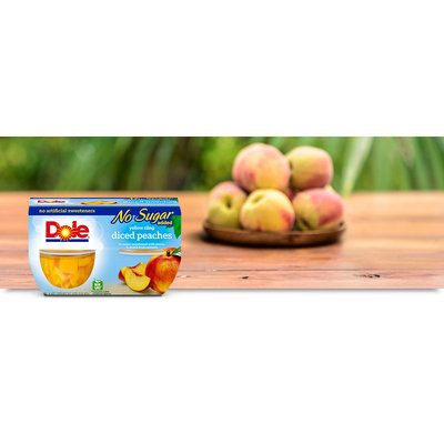 Dole Yellow Cling No Sugar Added Diced Peaches