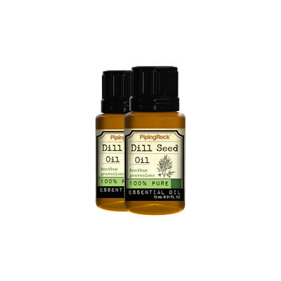Piping Rock Dill 100% Pure Essential Oil 2 Bottles x 1/2 oz (15 ml) Pure Oil Therapeutic Grade
