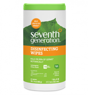 Seventh Generation Lemongrass Citrus Disinfecting Wipes