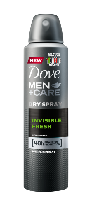 Dove Men+Care Antiperspirant Dry Spray Invisible Fresh