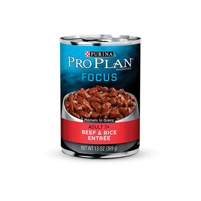 PRO PLAN® FOCUS ADULT 7+ Beef & Rice Entree Morsels In Gravy