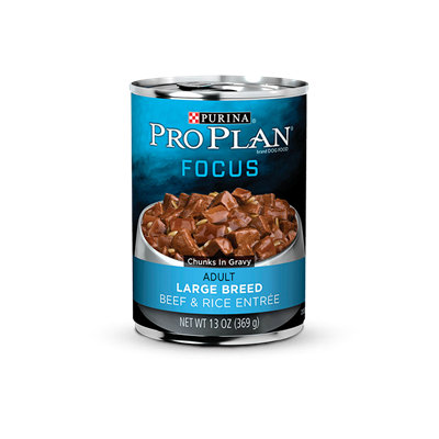 PRO PLAN® FOCUS ADULT Large Breed Beef & Rice Entree Chunks In Gravy