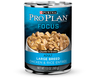 PRO PLAN® FOCUS ADULT Large Breed Chicken & Rice Entree Chunks In Gravy