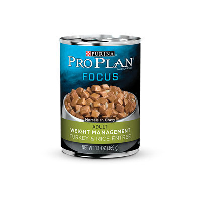 PRO PLAN® FOCUS ADULT Weight Management Turkey & Rice Entree Morsels In Gravy