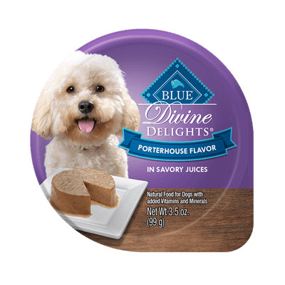 THE BLUE BUFFALO CO. BLUE™ Divine Delights® Porterhouse Flavor in Savory Juices For Small Breed Adult Dogs