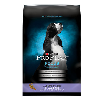 PRO PLAN® FOCUS ALL LIFE STAGES Small Bites Lamb & Rice Formula
