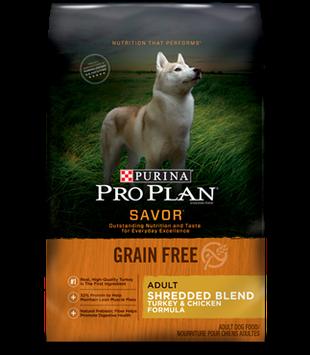 PRO PLAN® SAVOR® GRAIN FREE ADULT Shredded Turkey & Chicken Formula