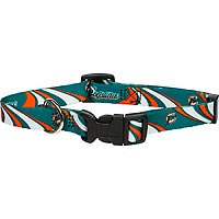 Hunter 305881 Miami Dolphins Dog Collar Nylon Small