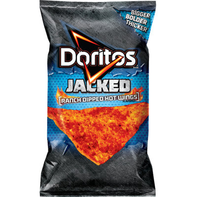 Doritos®  Jacked  Ranch Dipped Hot Wings Flavored Tortilla Chips