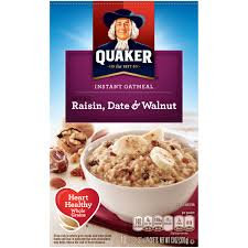 Quaker® Instant Oatmeal Raisin, Date And Walnut