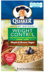 Quaker® Weight Control Instant Oatmeal Maple And Brown Sugar