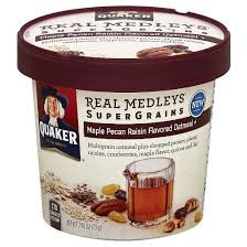 Quaker® Real Medleys Supergrains Oatmeal Maple Pecan Raisin