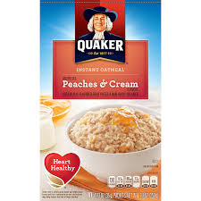 Quaker® Instant Oatmeal Peaches And Cream