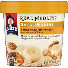 Quaker® Real Medleys Supergrains Oatmeal Banana Walnut