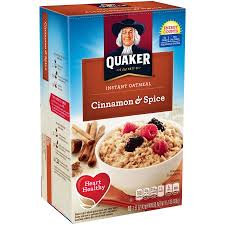 Quaker® Instant Oatmeal Cinnamon And Spice