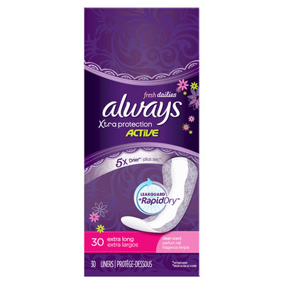 Always Xtra Protection Daily Liners Extra Long Clean Scent