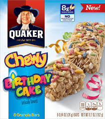 Quaker® Chewy Granola Bars Birthday Cake