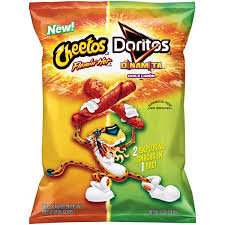 CHEETOS® Crunchy FLAMIN' Hot® Cheese Flavored Sancks & DORITTOS® DINAMITA® Chile Limon Flavored Rolled Tortilla Chips
