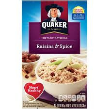 Quaker® Instant Oatmeal Raisins And Spice
