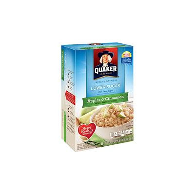 Quaker® Lower Sugar Instant Oatmeal Apples And Cinnamon