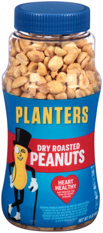 Planters Dry Roasted Peanuts Jar