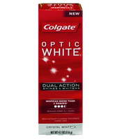 Colgate® OPTIC WHITE® DUAL ACTION Toothpaste Cyrstal Mint