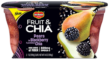 Del Monte® Fruit & Chia Pears in Blackberry Flavored Chia