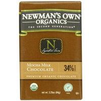 Newman's Own Organic Premium Chocolate Bar Mocha Milk 34% Cocoa