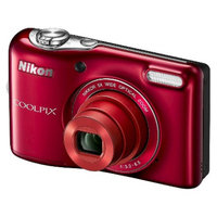 Nikon L30 20MP Digital Camera with 5X Optical Zoom - Red