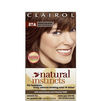 Clairol Natural Instincts 27A, Double Espresso, Dark Bronze Brown 1 Kit
