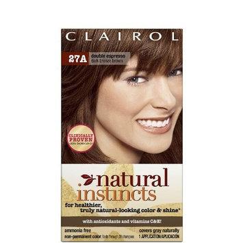 Clairol Natural Instincts 27A, Double Espresso, Dark Bronze Brown 1 Kit