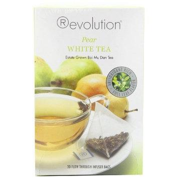 Revolution Tea White Pear Tea, 20-Count Tea Bags (Pack of 6)