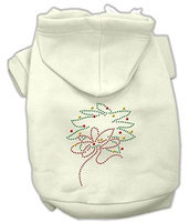 Mirage Pet Products 542515 XXLCR Christmas Wreath Hoodie Cream XXL 18
